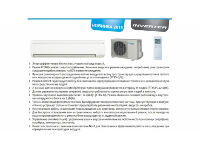 Daikin FTXS71G/RXS71F8 inverter